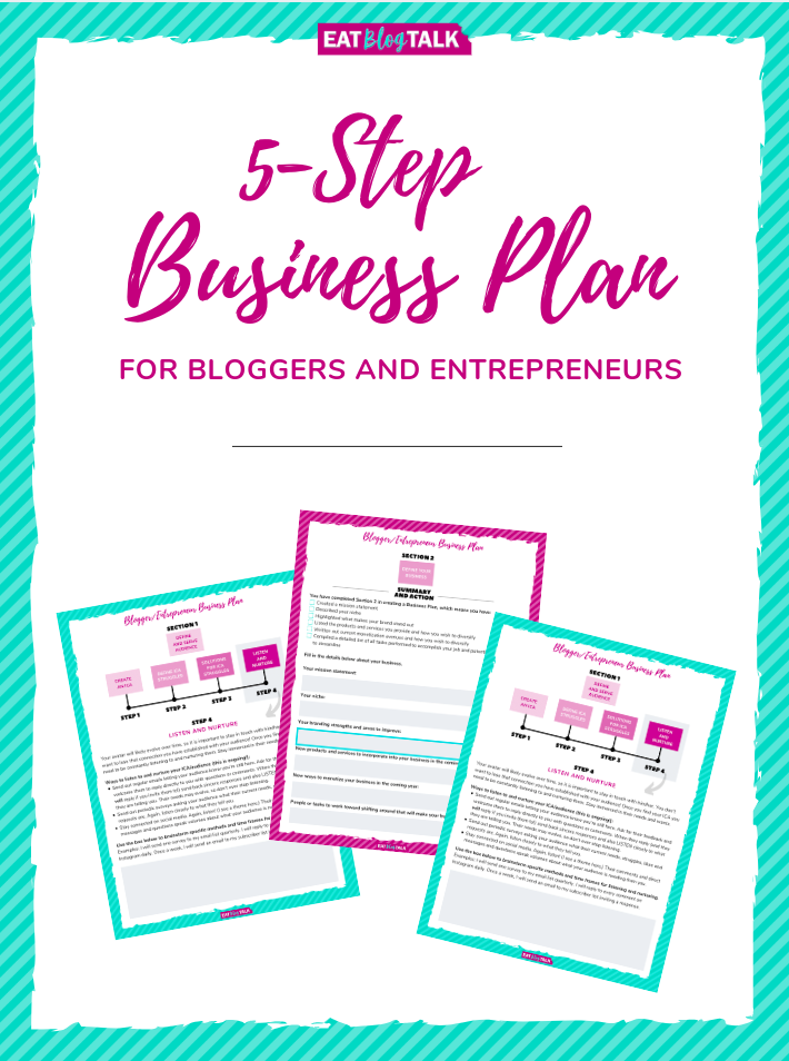 front cover of business plan guide for bloggers and entrepreneurs