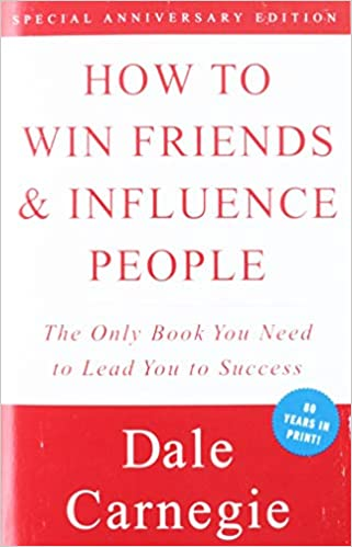 how to win friends and influence people book cover by dale carnegie