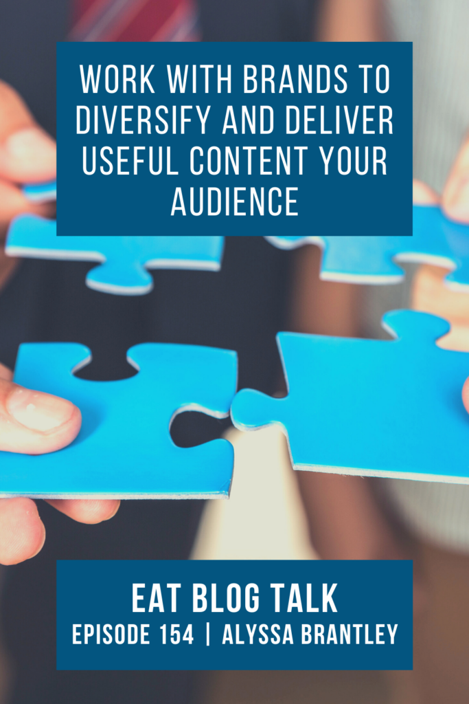 pinterest image for work with brands to diversify and deliver useful content your audience