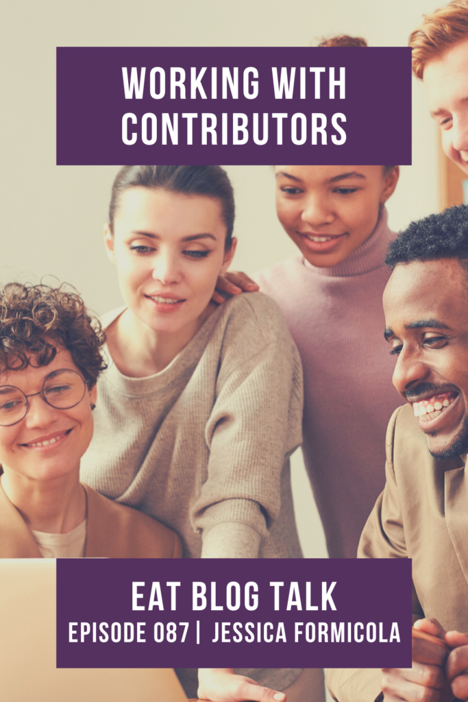 pinterest image of working with contributors
