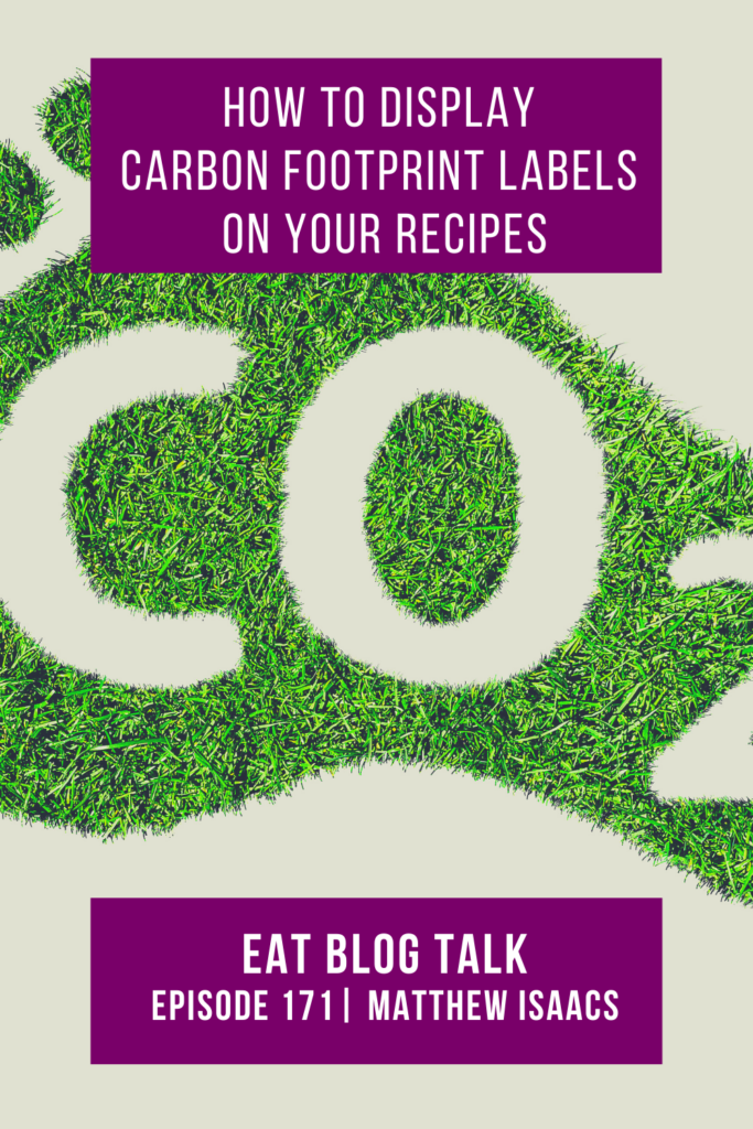 pinterest image for how to display carbon footprint labels on your recipes
