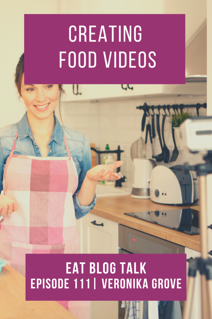 pinterest image for creating food videos