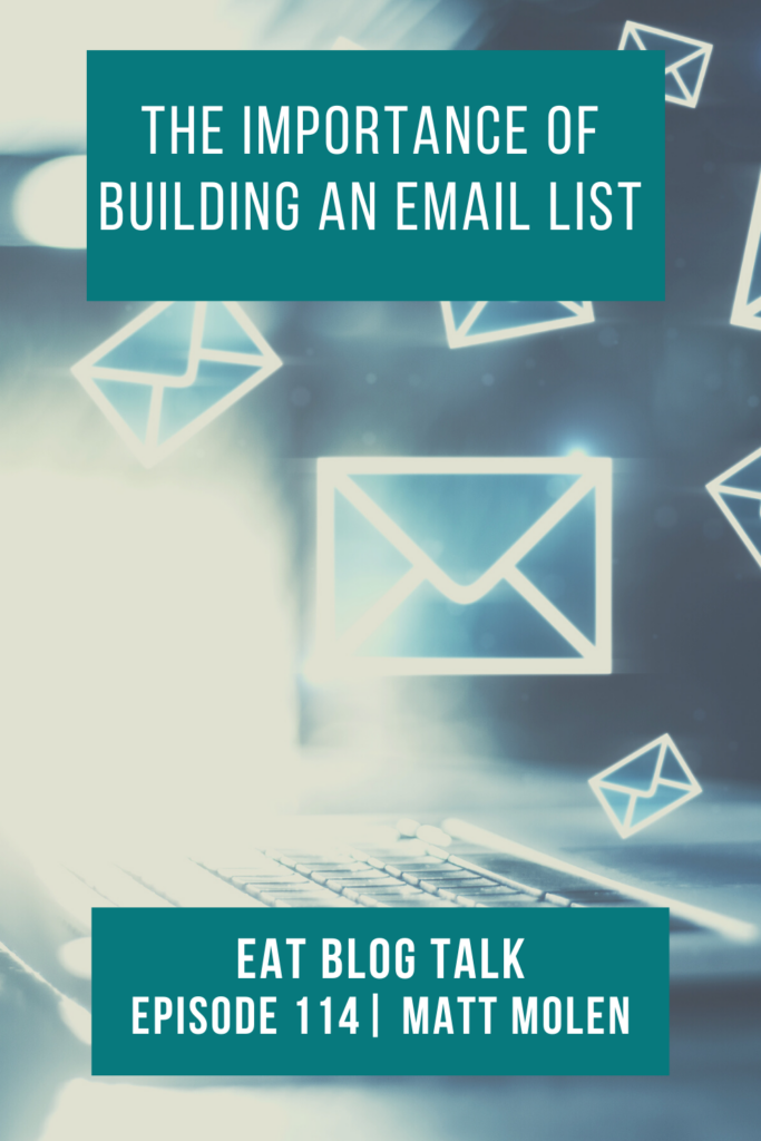 pinterest image for the importance of building an email list