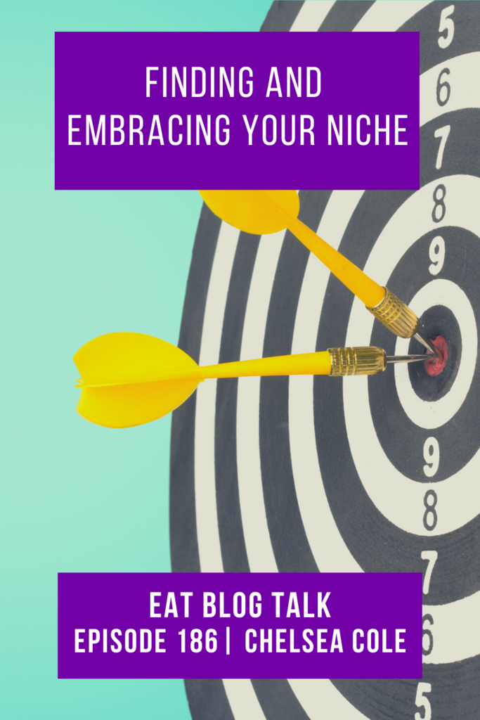 pinterest image for finding and embracing your niche