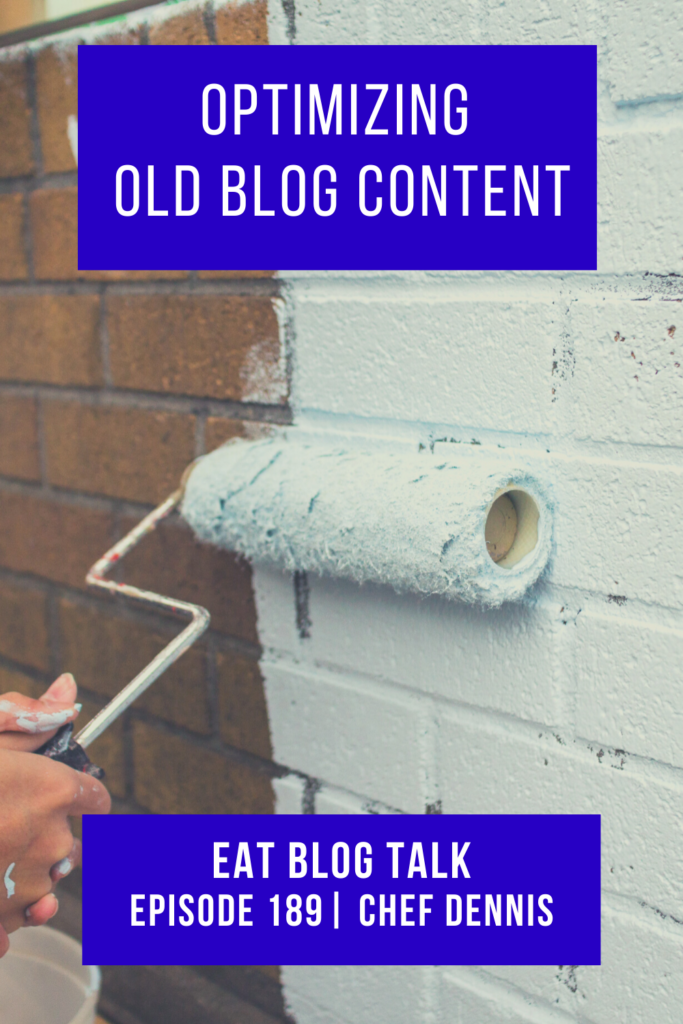pinterest image for optimizing old blog content