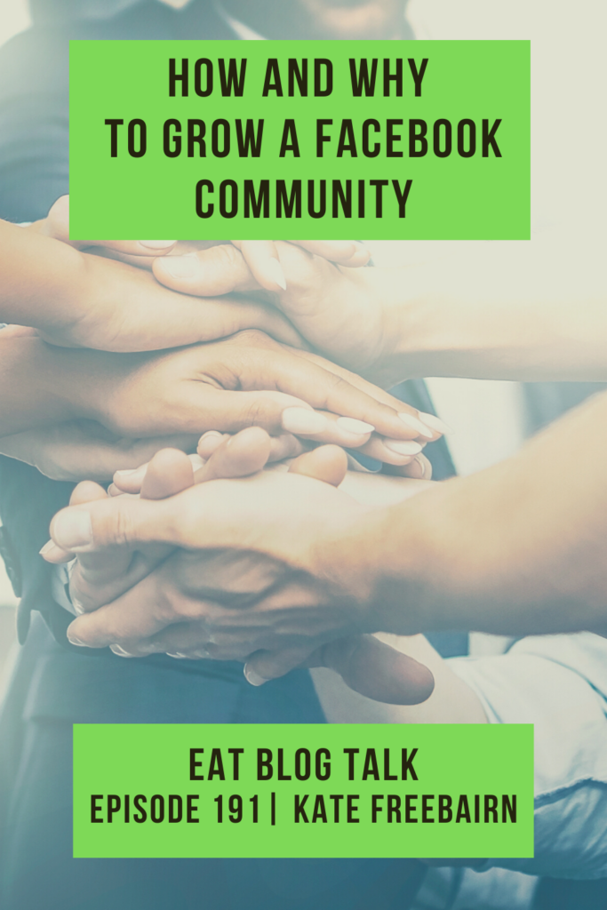 pinterest image for how and why to grow a facebook community