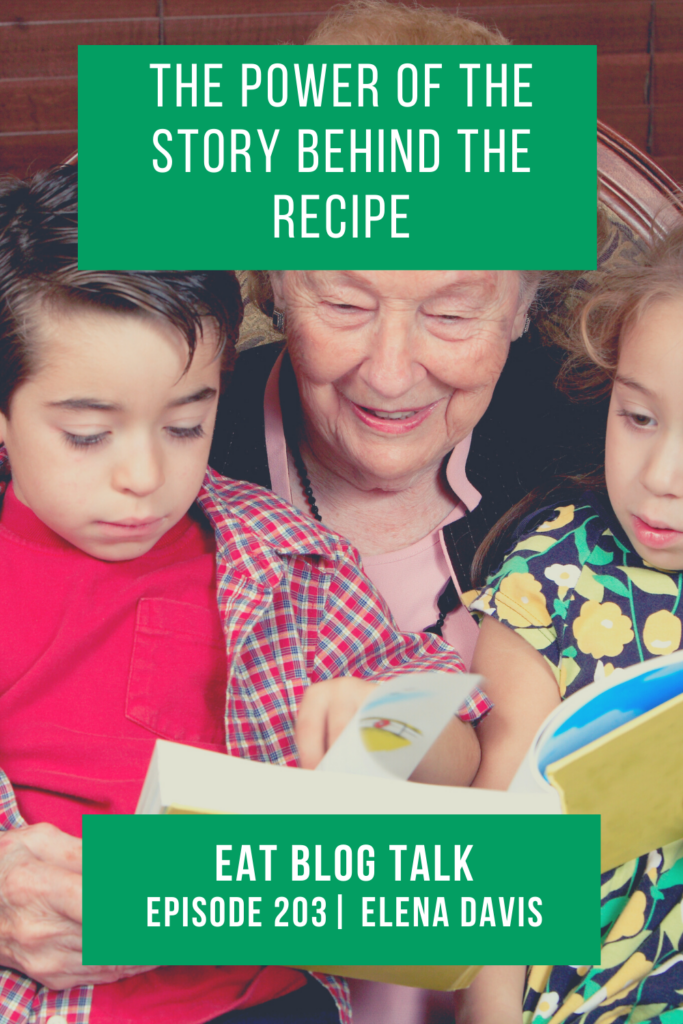 pinterest image for the power of the story behind the recipe