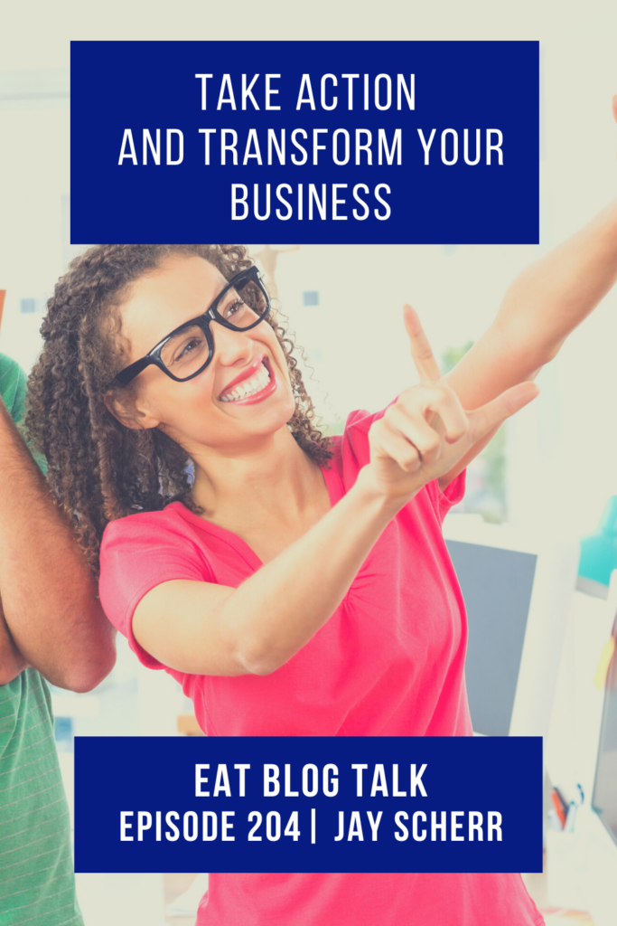 pinterest image for take action and transform your business