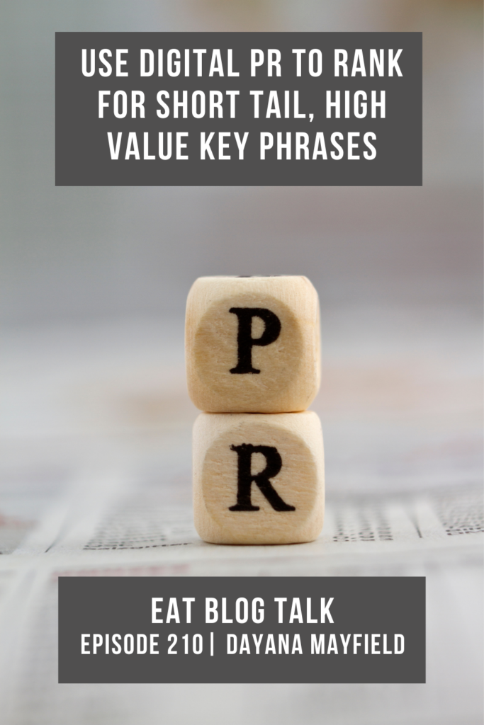 Pinterest image for use digital PR to rank for short tail, high value key phrases.